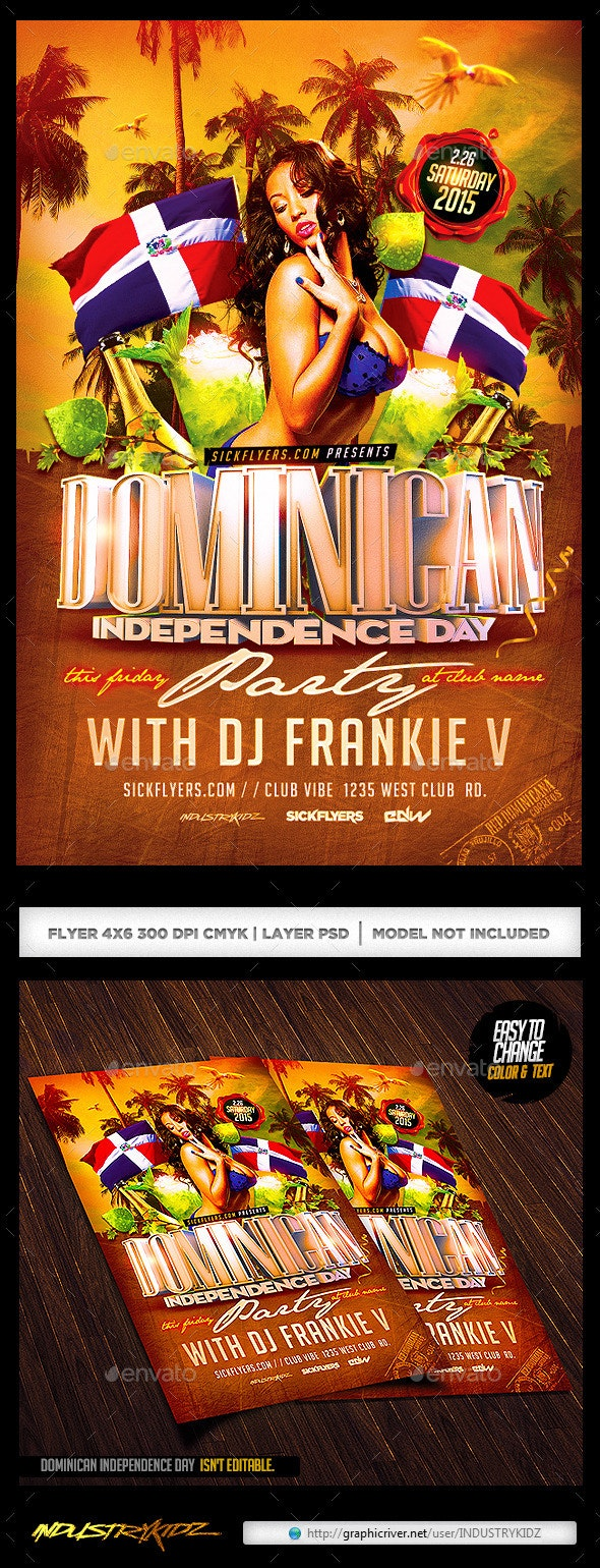 Dominican Independence Day Flyer - Clubs & Parties Events