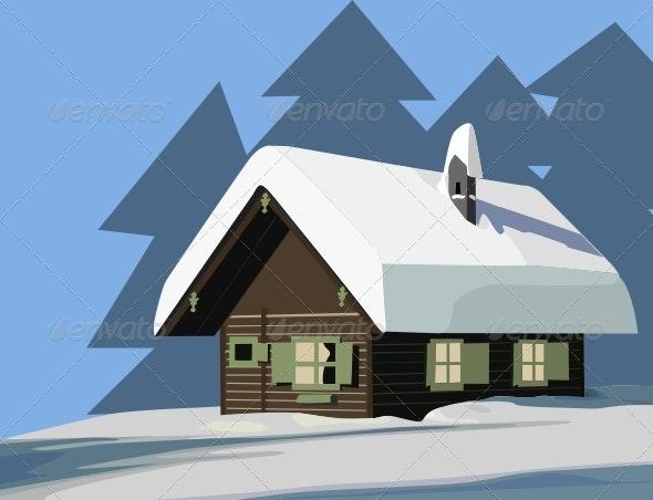 House in Winter - Buildings Objects
