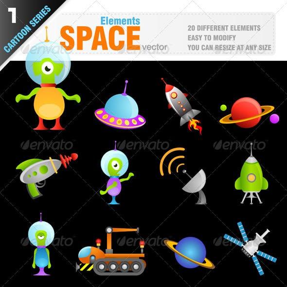 Cartoon Space Elements