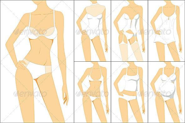 Female underwear - Man-made Objects Objects