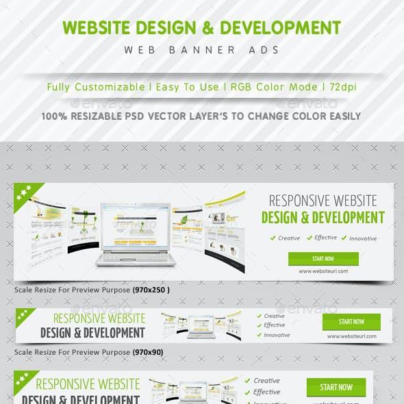 Website Design & Development Banner Ads