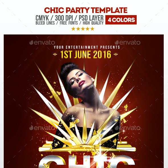 Chic Party Psd Flyer Template