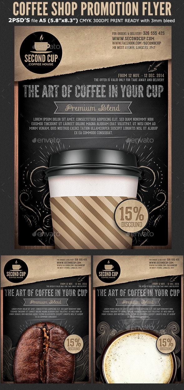 Coffee Shop Promotion Flyer Template - Restaurant Flyers