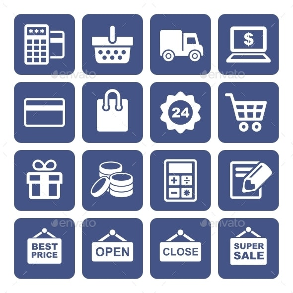 Shopping Icons Set - Business Icons