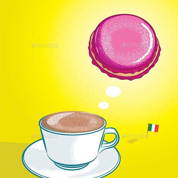 Cappuccino and Macaron