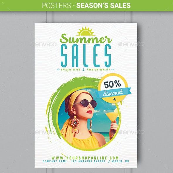 Posters - Season's Sales