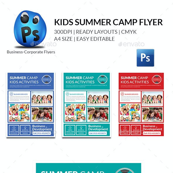 Kids Summer Flyers Print Templates