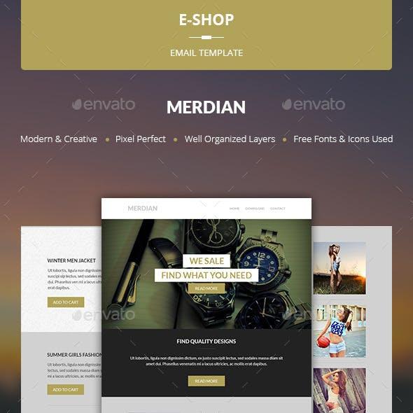 Merdian - E-shop Template