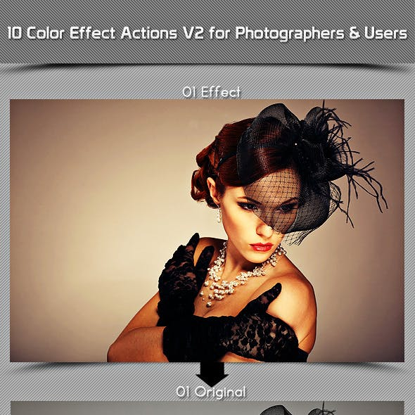 10 Color Effect Actions V2 For Photographers