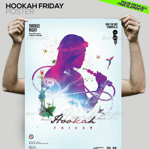 Hookah Friday Party Flyer/Poster