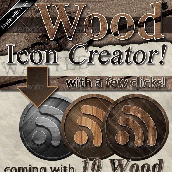 Wood Icon Creator and Set