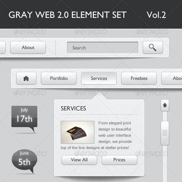 Gray Web 2.0 Elements Volume 2