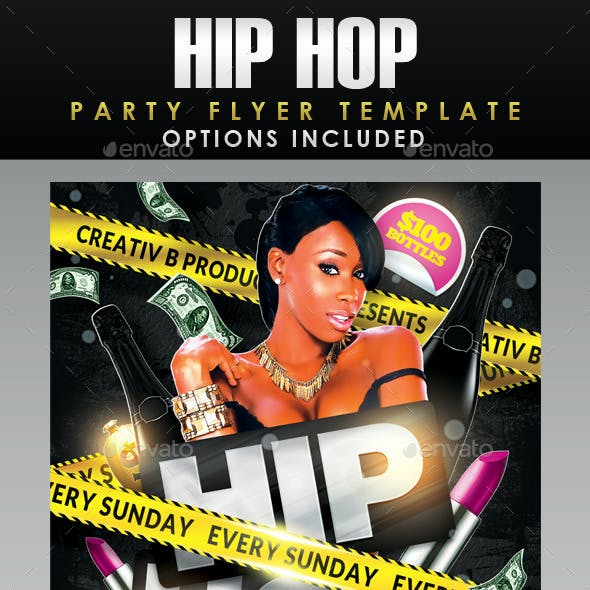 Hip Hop Party Flyer Template 2