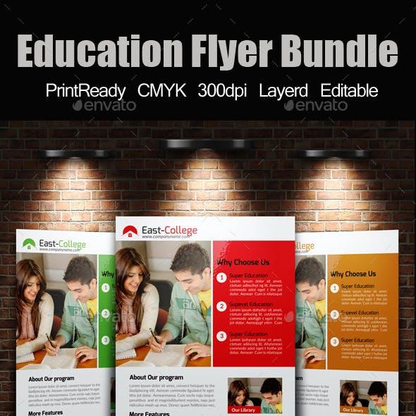 A4 education Flyer Template Bundle