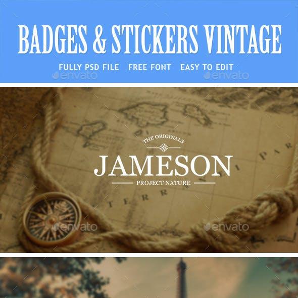 Badges Stickers Vintage Vol1