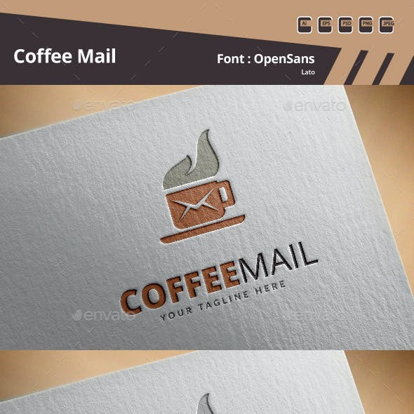 Coffee Mail Logo Template