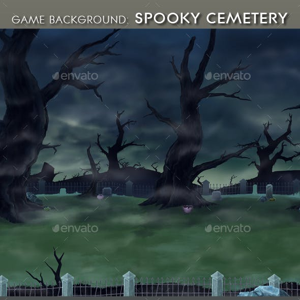 Game Background - Spooky Cemetery
