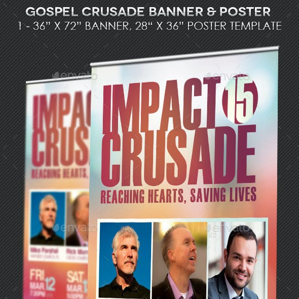 Gospel Crusade Banner Plus Poster Template