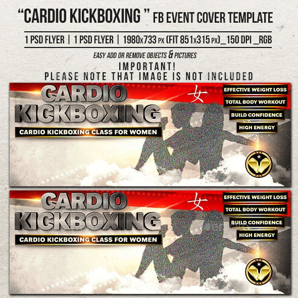 Cardio Kickboxing Facebook Cover Template