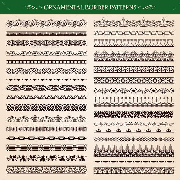 Ornamental Border Frame Patterns