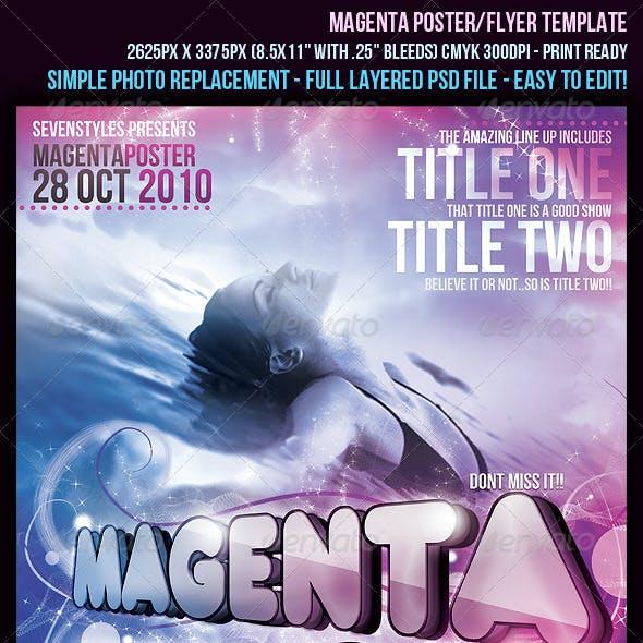 Magenta Poster/Flyer Template