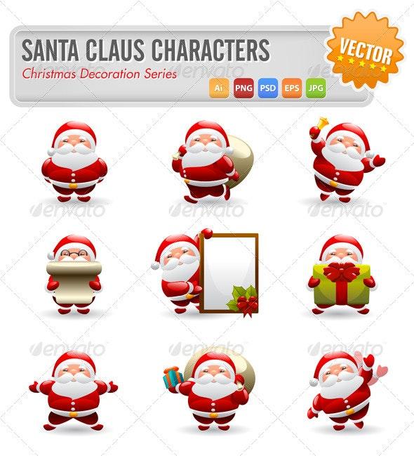 Santa Claus Characters - Christmas Seasons/Holidays