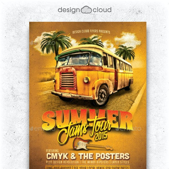 Summer Jams Tour Poster Flyer Template