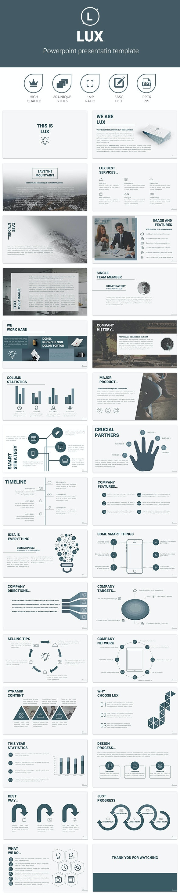 Lux - Business PowerPoint Templates
