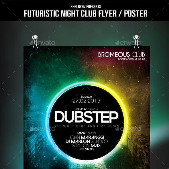 Futuristic Night Club Flyer / Poster