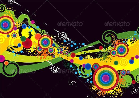Color Explosion Background art work - Miscellaneous Vectors