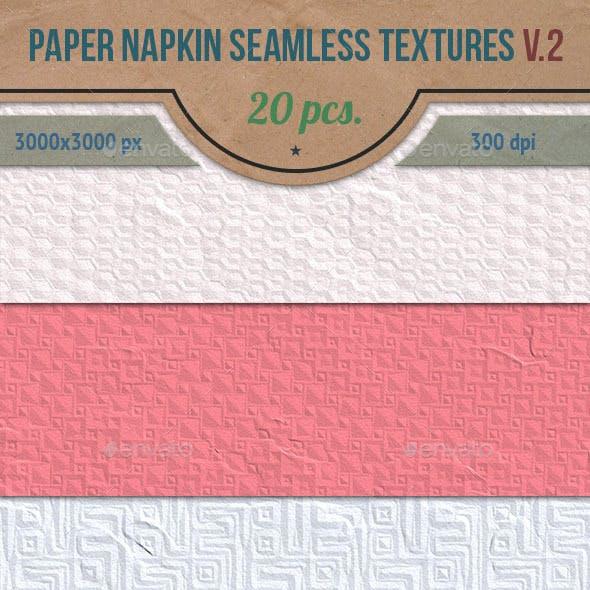 Paper Napkin Seamless HD Textures Set v.2