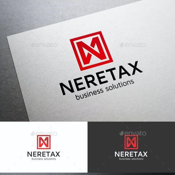N Monogram Logo Letter - Neretax