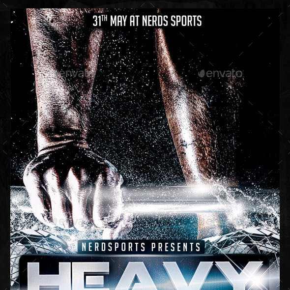 Heavy Lifter 2K15 Championships Sports Flyer