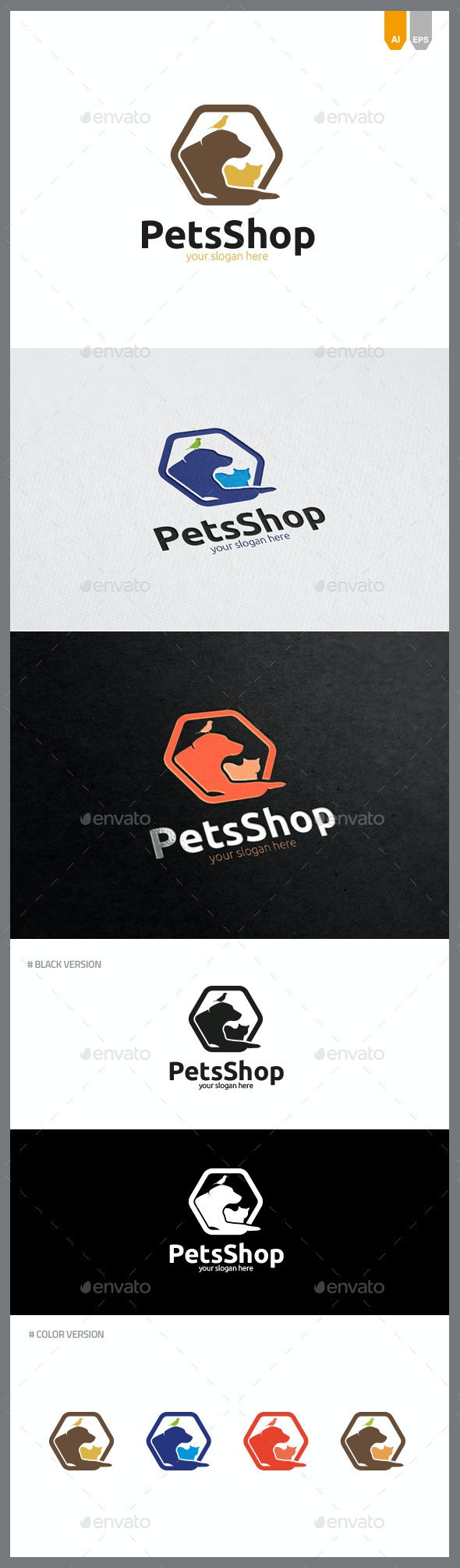 Pets Shop Logo - Objects Logo Templates
