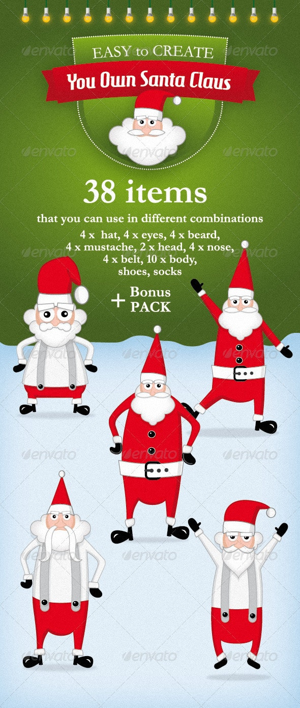 Vector Santa Claus Kit - People Characters