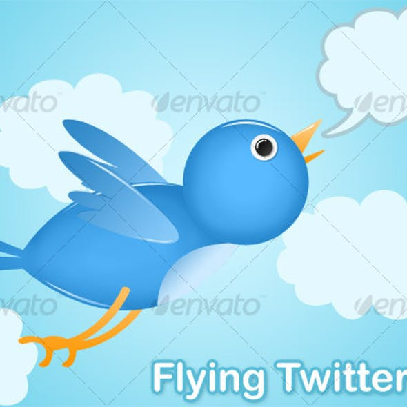 Simple Flying Twitter Bird