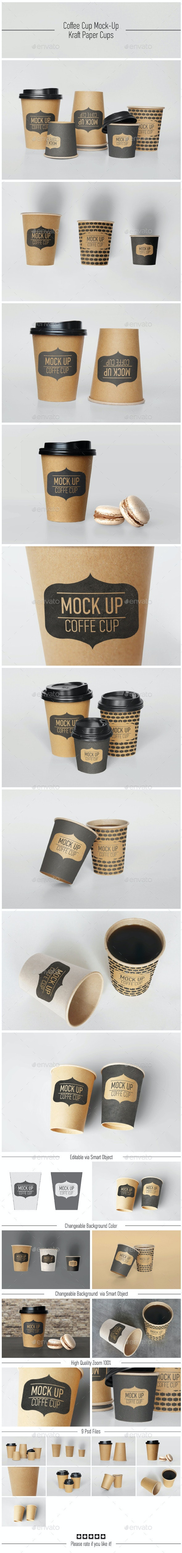 Coffee Cup Mock-Up - Food and Drink Packaging