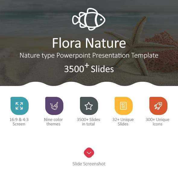 Flora Nature Powerpoint Presentation Template