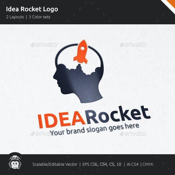 Idea Rocket Brain Logo