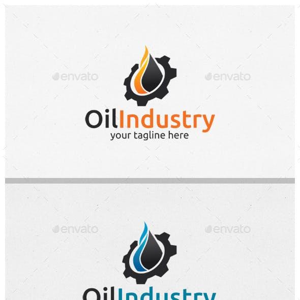 Oil Industri Logo Template