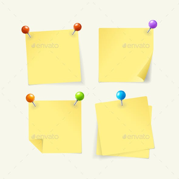 Pins with Yellow Paper