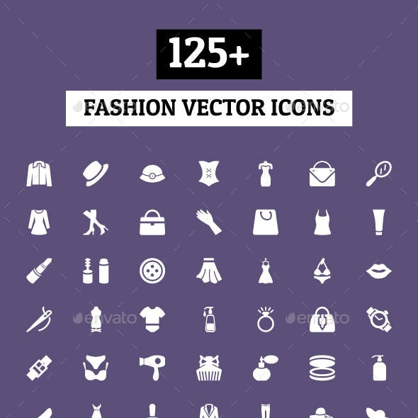 125+ Fashion Vector Icons