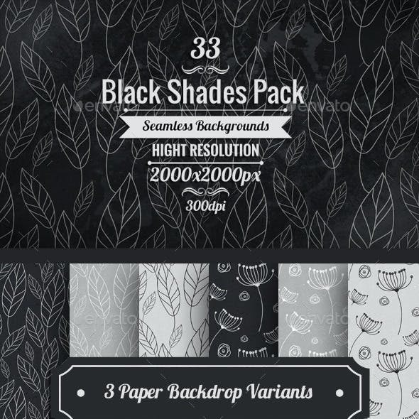 Black And White Floral Paper Backgrounds