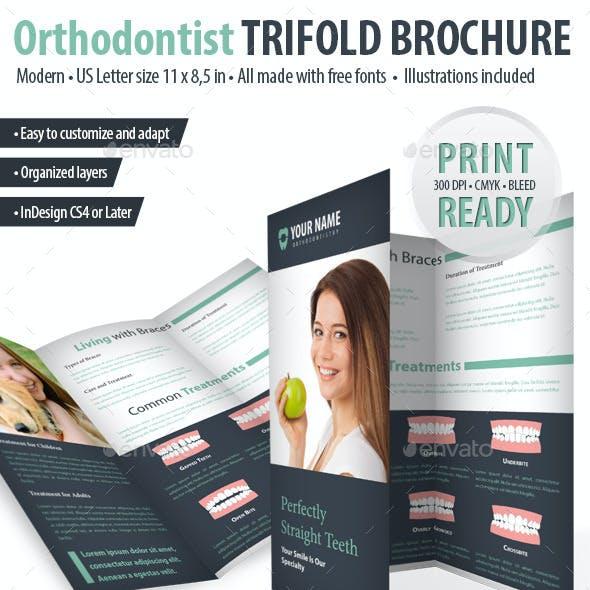 Orthodontist / Dental Trifold Brochure