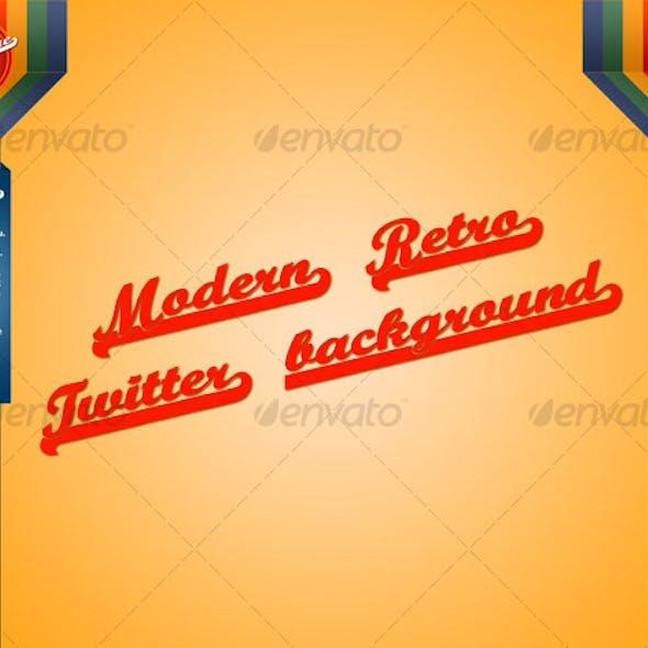 Modern Retro Twitter Background