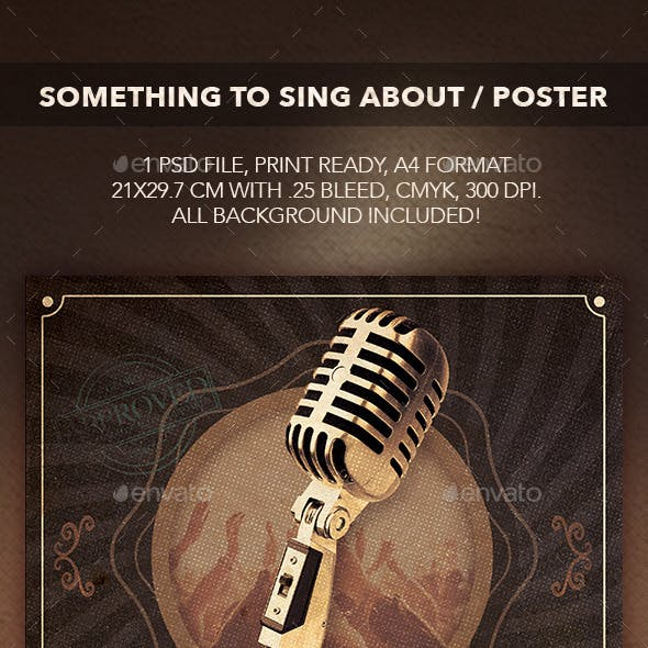 Something to Sing About Flyer/Poster
