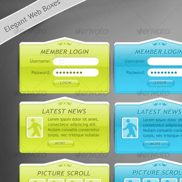 Glassy Elegant Web 2.0 Box Designs