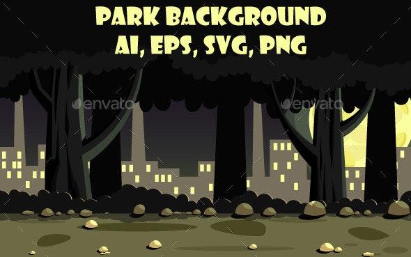 Park BG - Backgrounds Game Assets