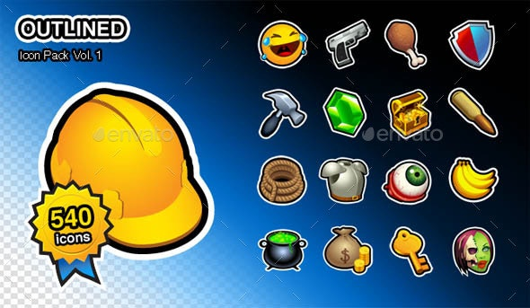 Outlined V1 - 540 Icons Pack - Icons