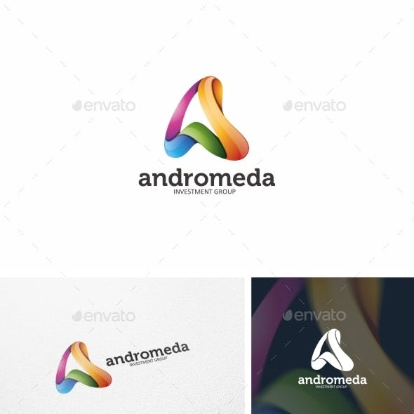 Abstract Letter A - Logo Template